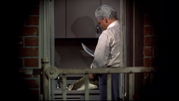 Thornwald coolly commits murder in Hitchcock's Rear Window